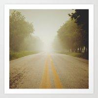Infinity Road! Art Print