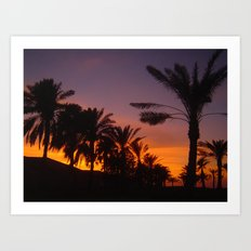 Arabian sunset Art Print