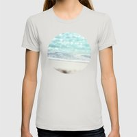 Serenity Womens Fitted Tee Silver SMALL