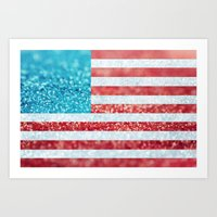 Red, White, And Glitter … Art Print