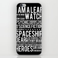Firefly Subway Poster iPhone & iPod Skin