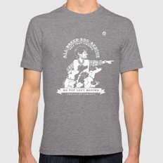 Will Graham's All-Breed Dog Rescue Mens Fitted Tee Tri-Grey SMALL