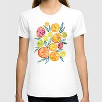 watercolor T-shirts featuring Sliced Citrus Watercolor by Cat Coquillette