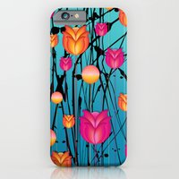 iPhone Cases featuring Tulips by Sandra Sabourin