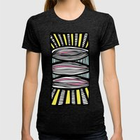 Sunray Womens Fitted Tee Tri-Black SMALL