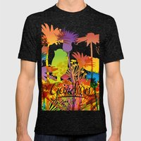 Giardino Mens Fitted Tee Tri-Black SMALL