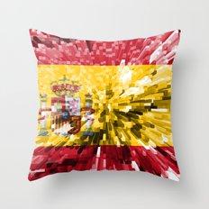 Spain Flag - Extrude Throw Pillow
