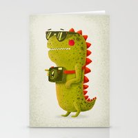 Dino Touristo (olive) Stationery Cards
