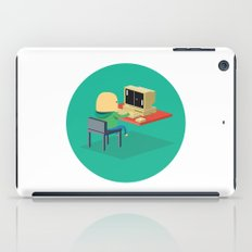 Nerd playing Pong iPad Case