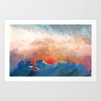 Sunset Impressionist  Art Print