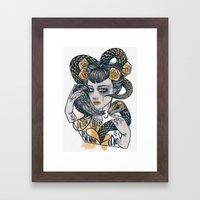 the Golden Hate Framed Art Print