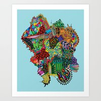 Crystalised Colour Art Print
