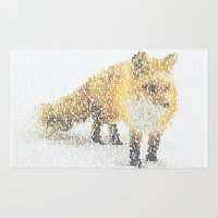 Fox In The Snow Rug