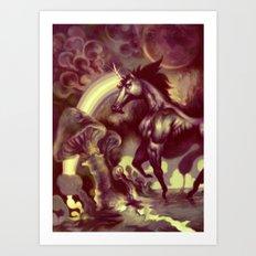 Ultra Unicorn Power Art Print
