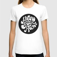 Know Your Name Type Womens Fitted Tee White SMALL