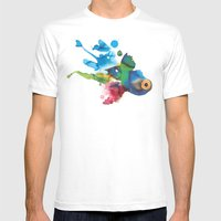 COLORFUL FISH 2 Mens Fitted Tee White SMALL