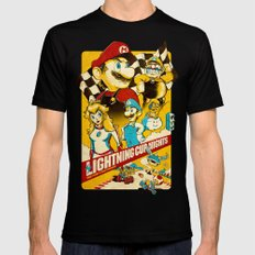 Lightning Cup Nights: The Fast & the Fungus Mens Fitted Tee Black SMALL