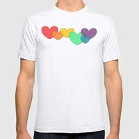 Love is a Rainbow Mens Fitted Tee Ash Grey SMALL