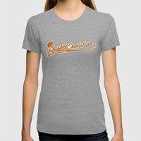 BE by Ronan Womens Fitted Tee Tri-Grey SMALL