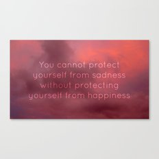 Happiness and sadness Canvas Print