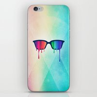 Love Wins! Rainbow - Spectrum (Pride) / Hipster Nerd Glasses iPhone & iPod Skin
