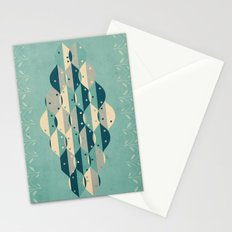50's floral pattern IV Stationery Cards