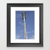 Emirates Cable Car And B… Framed Art Print