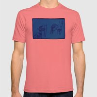 Reading Lady X 2 (edit 1… Mens Fitted Tee Pomegranate SMALL