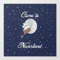 Peter Pan Neverland In N… Canvas Print