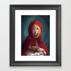 Red and Little Wolf Framed Art Print