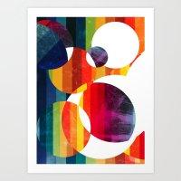 Abstract Rainbow  Art Print
