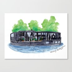 Water Living in Amsterdam by Charlotte Vallance Canvas Print