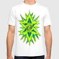 RASTA STAR Mens Fitted Tee White SMALL