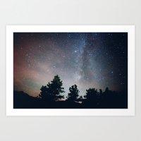 stargazing in the rockies .  Art Print
