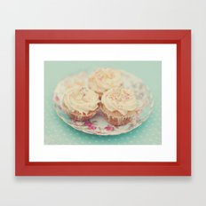 Heavenly cupcakes Framed Art Print