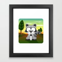 Woodland Animals Series II. raccoon Framed Art Print