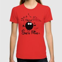 She's Mine Womens Fitted Tee Red SMALL