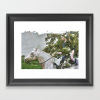 A Spark in the Trees Framed Art Print
