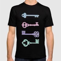Skeleton Keys Mens Fitted Tee Black SMALL