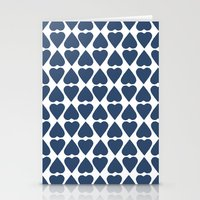 Diamond Hearts Repeat Na… Stationery Cards