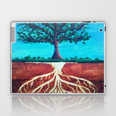 A tree only stands tall because of it's roots. Laptop & iPad Skin