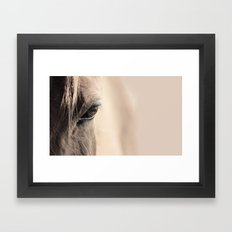horses eye Framed Art Print