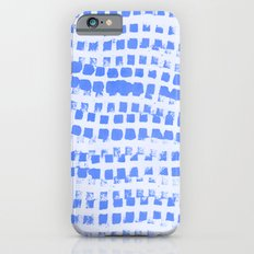 Abstract azure navy pattern iPhone 6s Slim Case