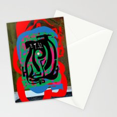 Hearts and Minds Are Not Straight Lines Never Let The Mind Go Asinine  Stationery Cards