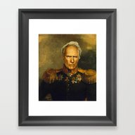Clint Eastwood - Replace… Framed Art Print