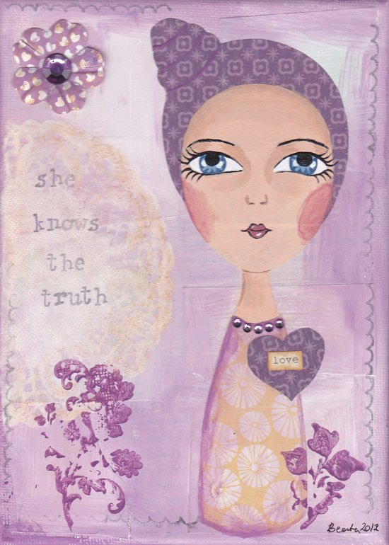 She knows the truth Art Print