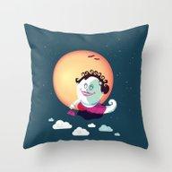 Throw Pillow featuring Madame Coquette  by Feigenherz BAM