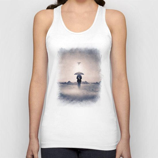 Waiting for the rain (colour option) Unisex Tank Top