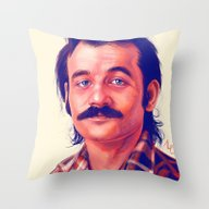 Throw Pillow featuring Young Mr. Bill Murray by Thubakabra