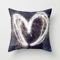 Sparkler Love Throw Pillow